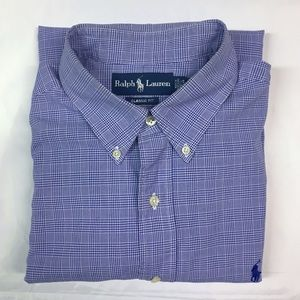 Ralph Lauren Classic Fit Blue Plaid Medium Shirt